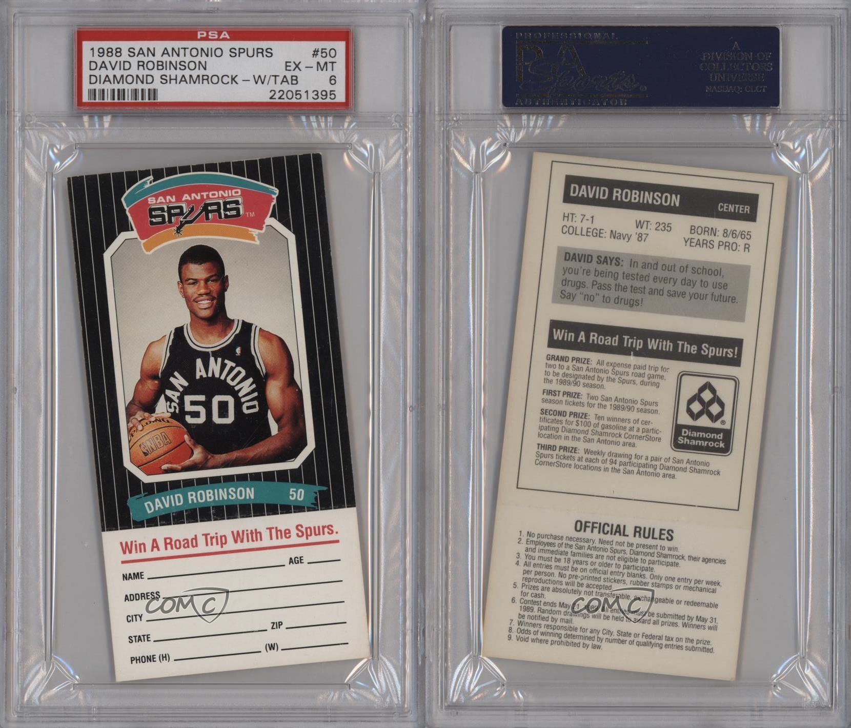 1988-89 Diamond Shamrock San Antonio Spurs DARO David