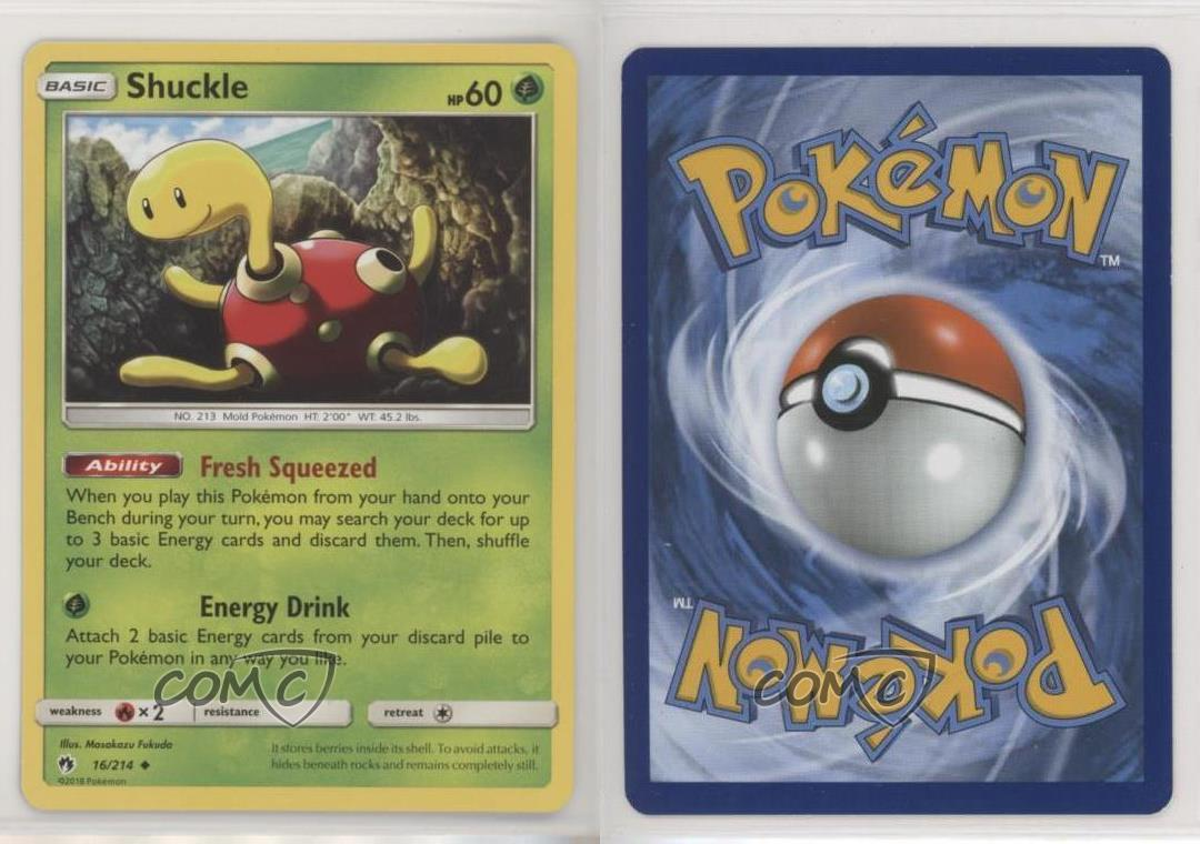 Uncommon Pokemon Card Shuckle 16//214 2018 - NM Lost Thunder Set