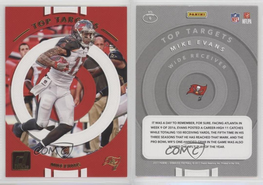 2017 Donruss #225 Mike Evans Tampa Bay Buccaneers Football Card