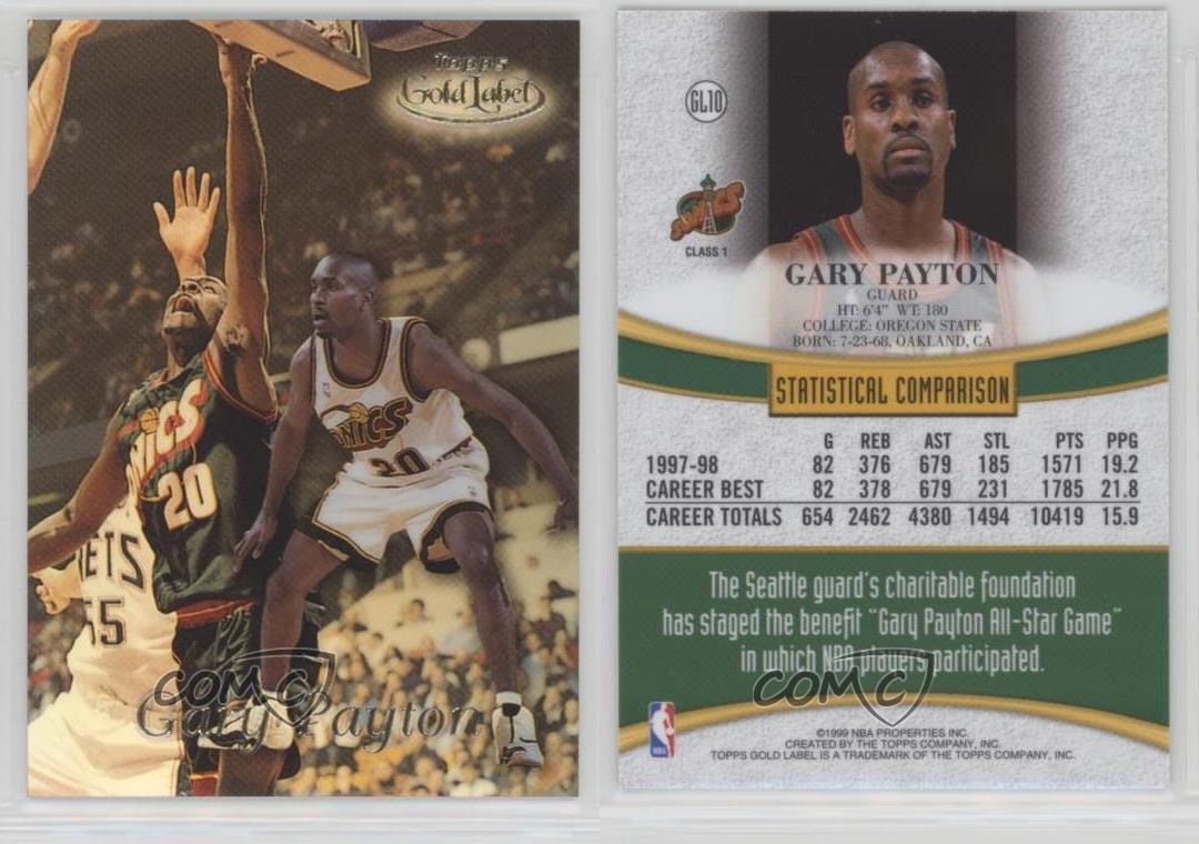 1998 99 Topps Gold Label Gl10 Gary Payton