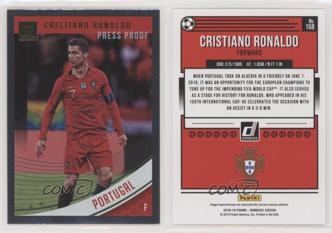 PANINI DONRUSS Soccer 2018-2019 base 158 Cristiano Ronaldo-Portugal