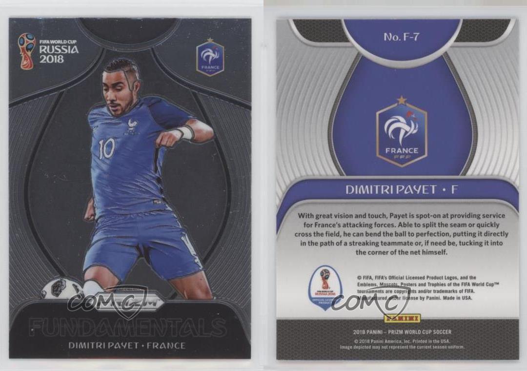 Prizm Copa del Mundo 2018 fundamentos Chase Card F-7 Dimitri Payet-Francia