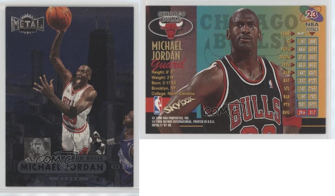 1997 98 metal universe championship preview 23 michael for Championship table 98 99