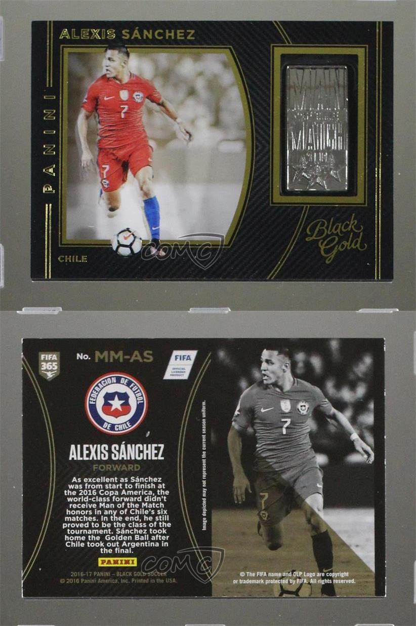 2016-2016-17-Panini-Black-Gold-Man-of-the-Match-MM-AS-Alexis-Sanchez-Chile-Card
