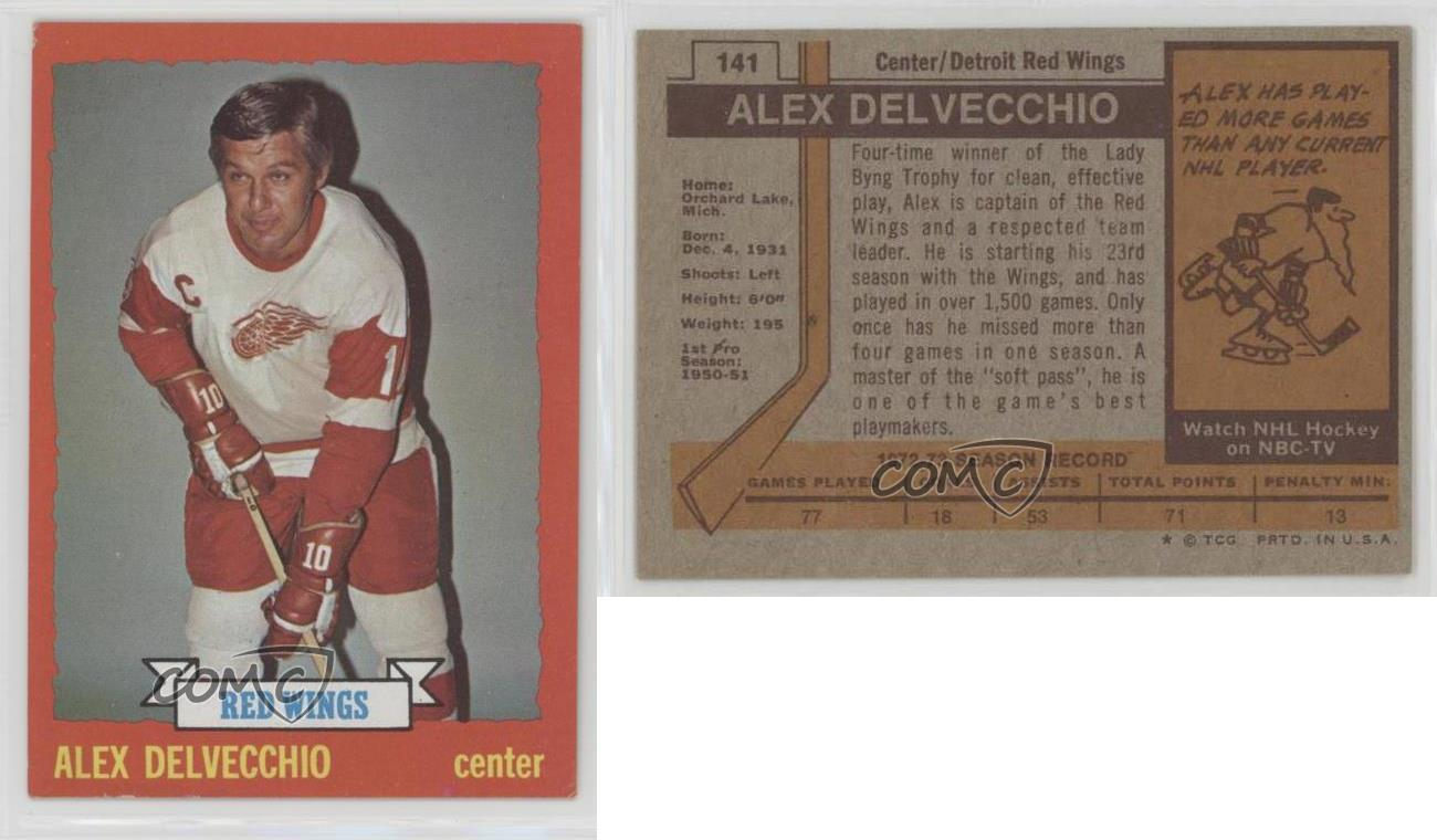 1973-74-Topps-141-Alex-Delvecchio-Detroit-Red-Wings-Hockey-Card