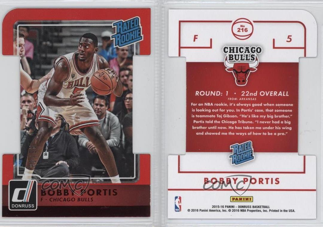 2015-16-Panini-Donruss-Inspirations-Die-Cut-216-Rated-Rookies-Bobby-Portis-Card