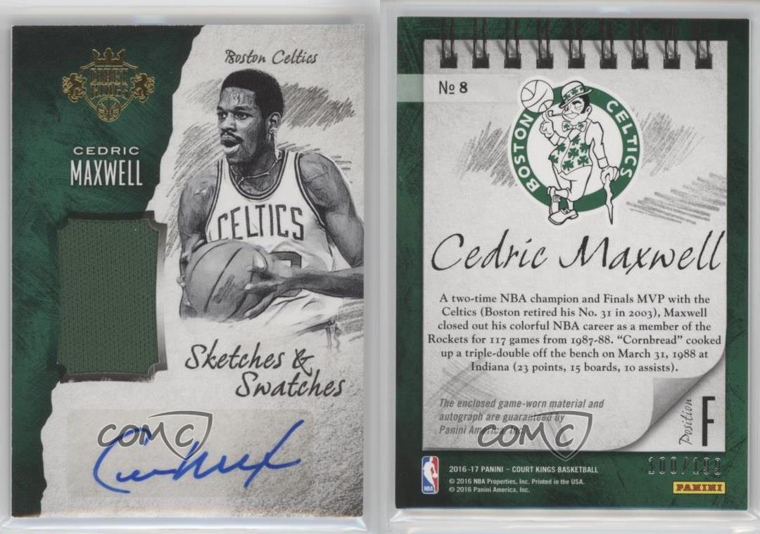 2016 17 Panini Court Kings Sketches and Swatches 8 Cedric Maxwell
