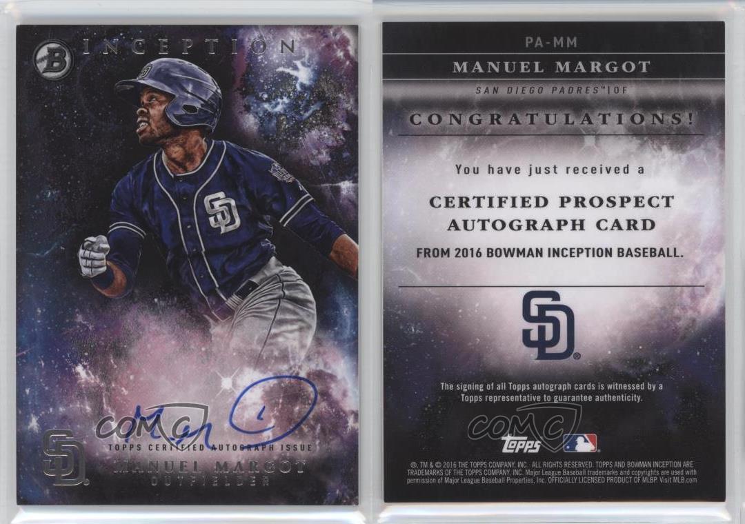 2016 Bowman Inception Prospect Autographs Pa Mm Manuel Margot Manny