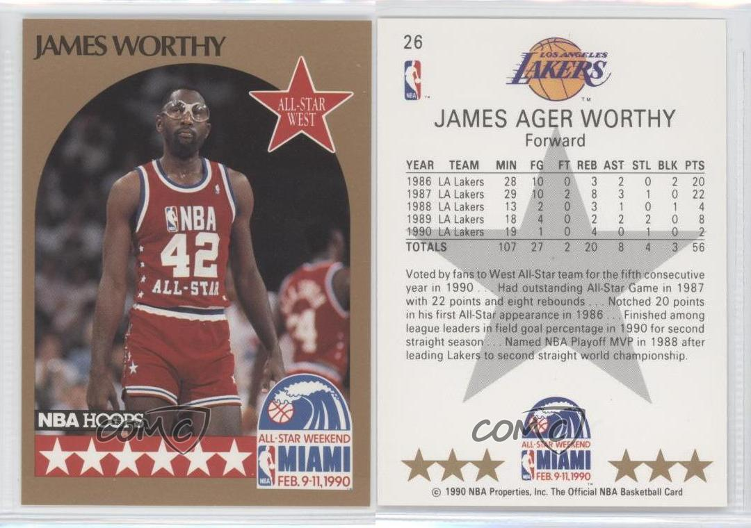 e4c861bb1 ... JERSEY PATCH 142 1990-91-NBA-Hoops-26-James-Worthy-Los- ...