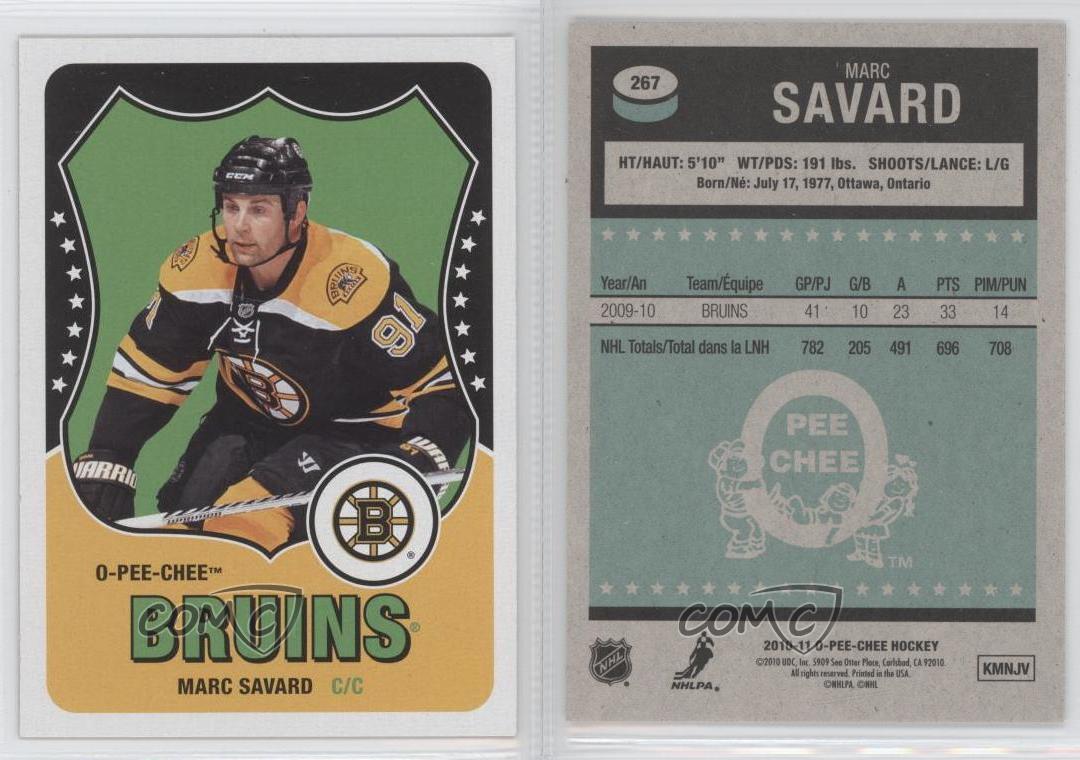 2010-11-O-Pee-Chee-Retro-267-Marc-Savard-Boston-Bruins-Hockey-Card