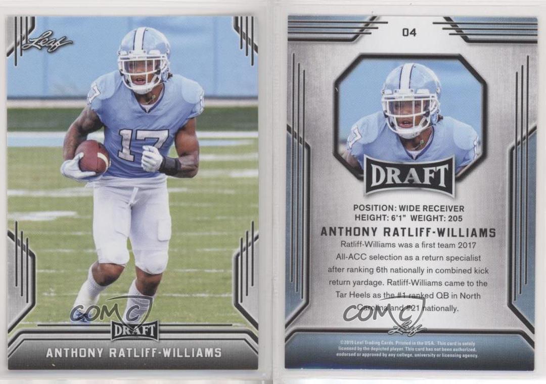 2019 Leaf Draft Anthony Ratliff-Williams #04 Rookie | eBay