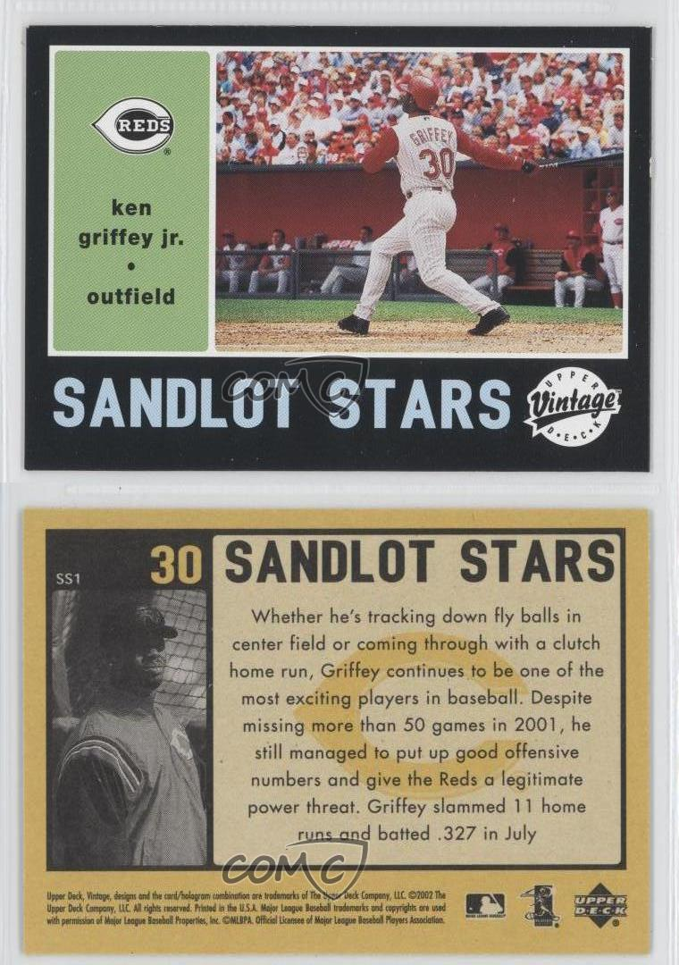 2002-Upper-Deck-Vintage-Sandlot-Stars-SS1-Ken-Griffey-Jr-Cincinnati-Reds-Jr