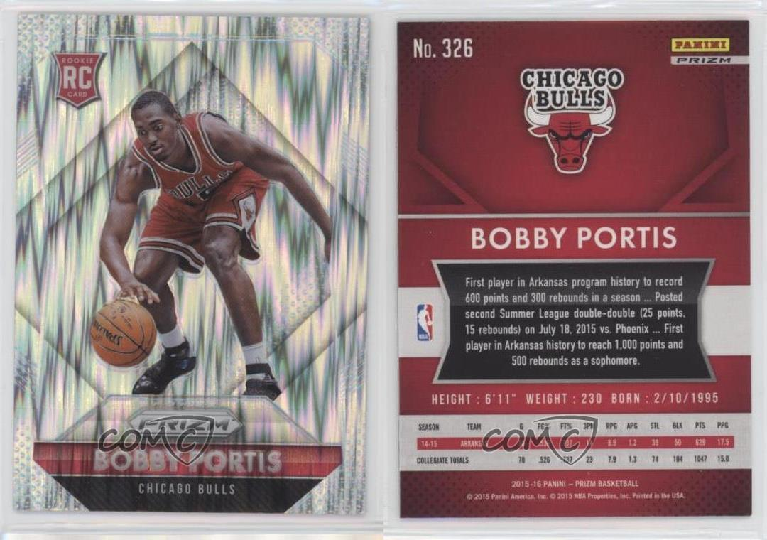2015-Panini-Prizm-Flash-326-Rookies-Bobby-Portis-Chicago-Bulls-Basketball-Card