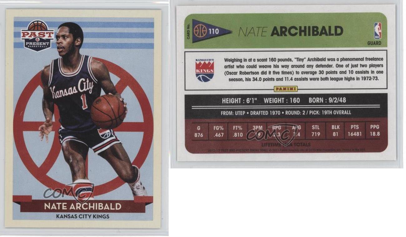2012 13 Panini Past & Present 110 Nate Archibald Kansas City