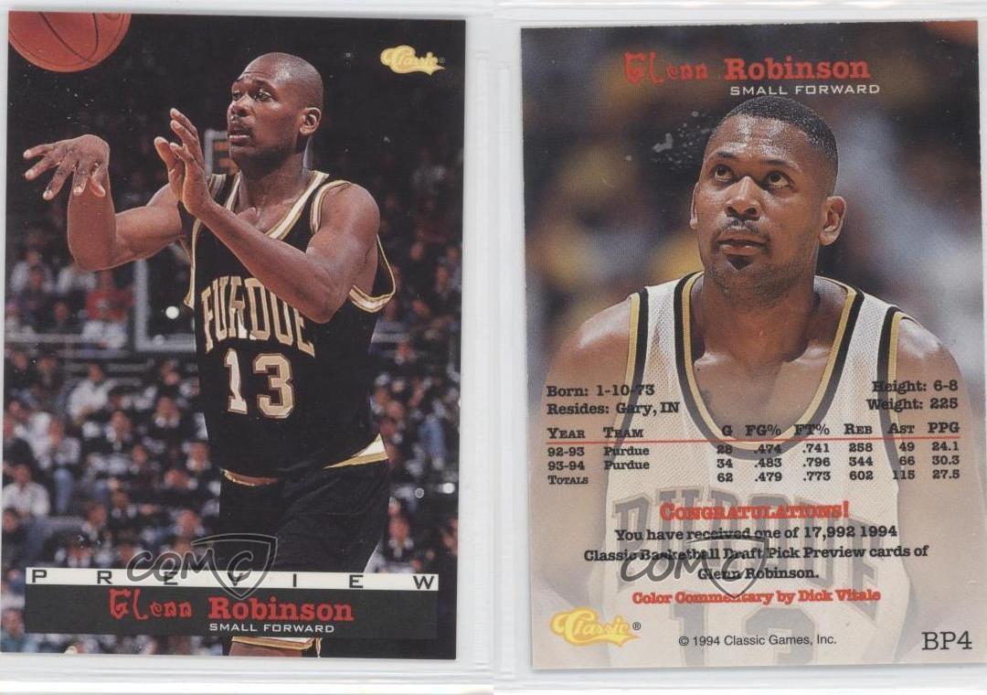 1994-95-Classic-Preview-BP4-Glenn-Robinson-Rookie-Basketball-Card