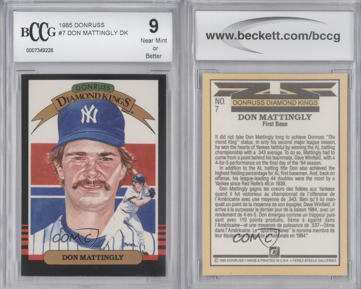1985 Donruss Leaf 7 Don Mattingly New York Yankees