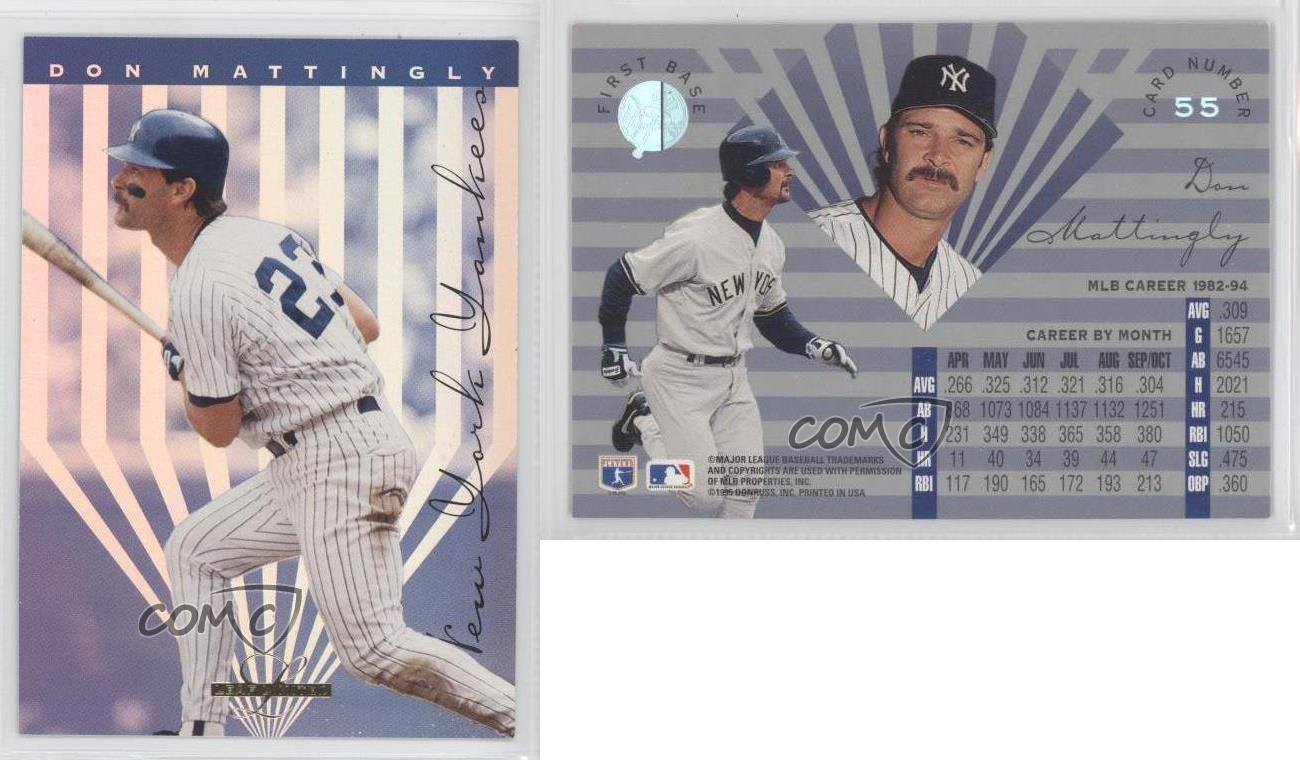 1995 Leaf Limited 55 Don Mattingly New York Yankees