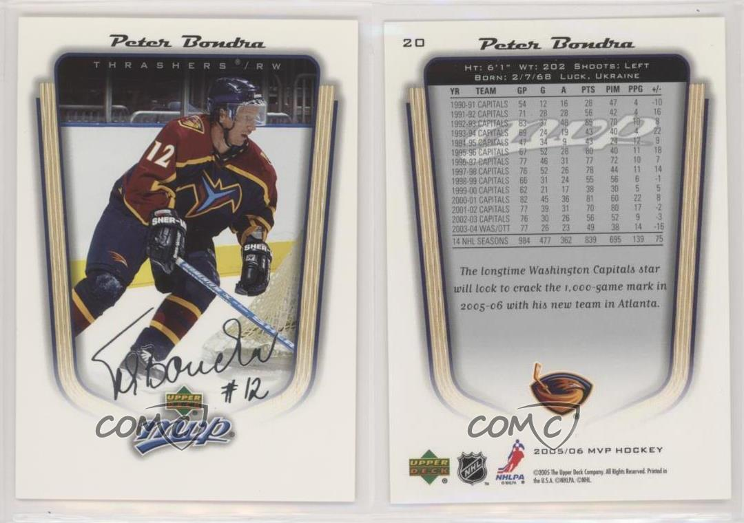 2005-06-Upper-Deck-MVP-20-Peter-Bondra-Atlanta-Thrashers-Hockey-Card