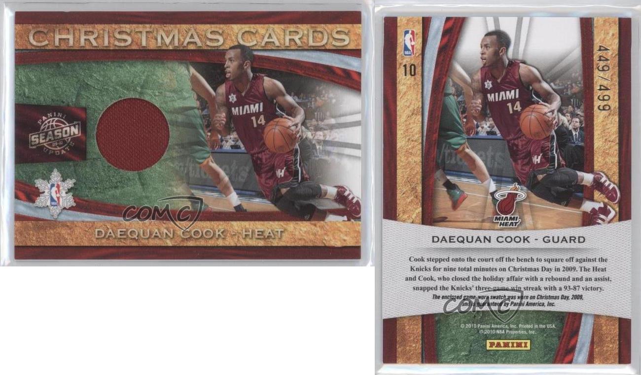 2009 Panini Season Update Christmas Cards Materials #10 Daequan Cook ...