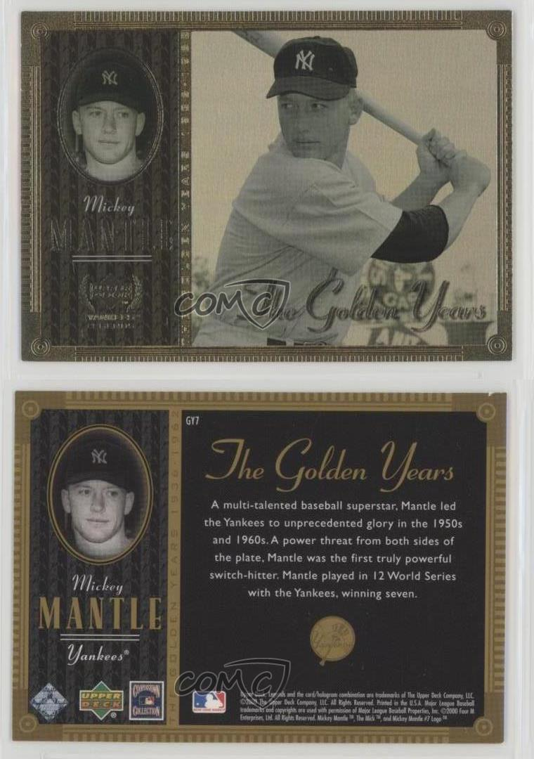 2000 Upper Deck Yankee Legends The Golden Years Gy7 Mickey Mantle
