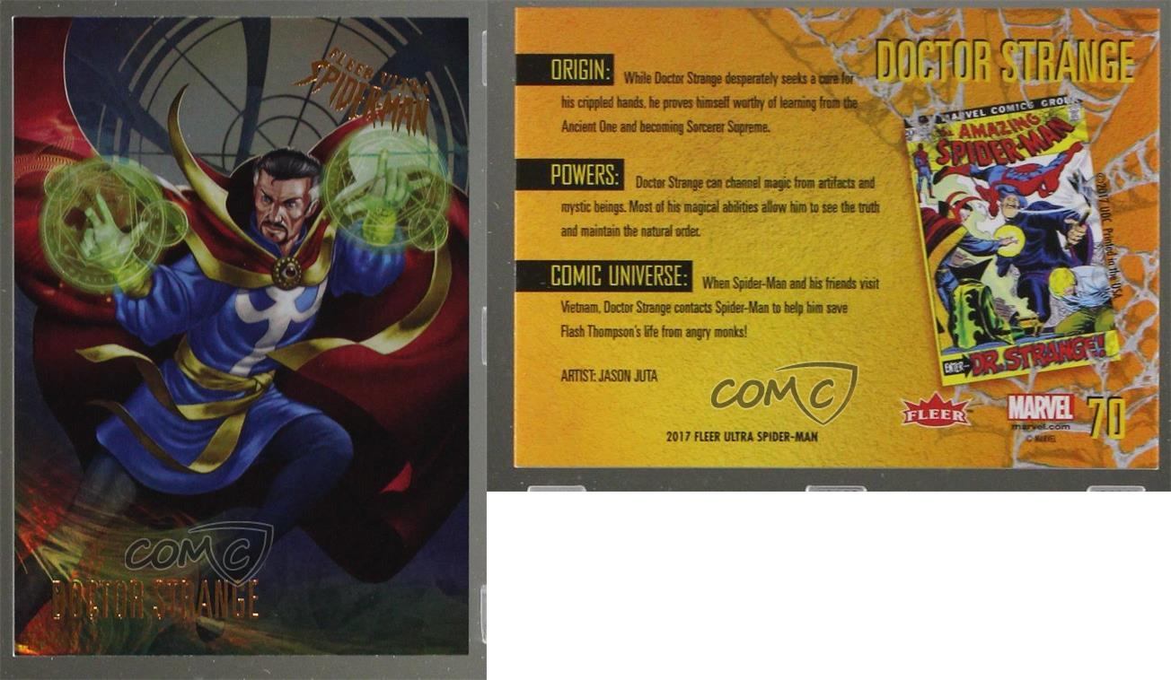 Spiderman Fleer Ultra 2017 Base Card #70 Doctor Strange