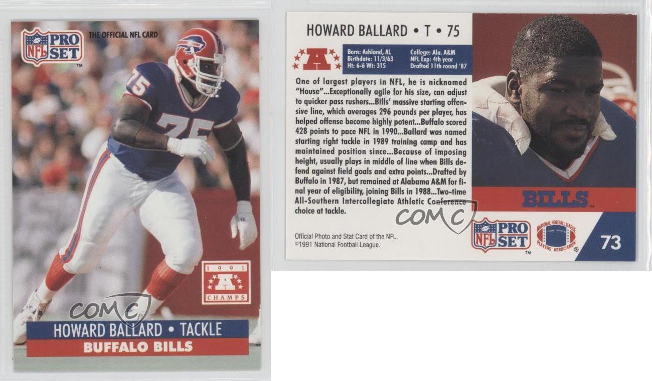 1992 Pro Set NFL Experience 73 Howard Ballard Buffalo