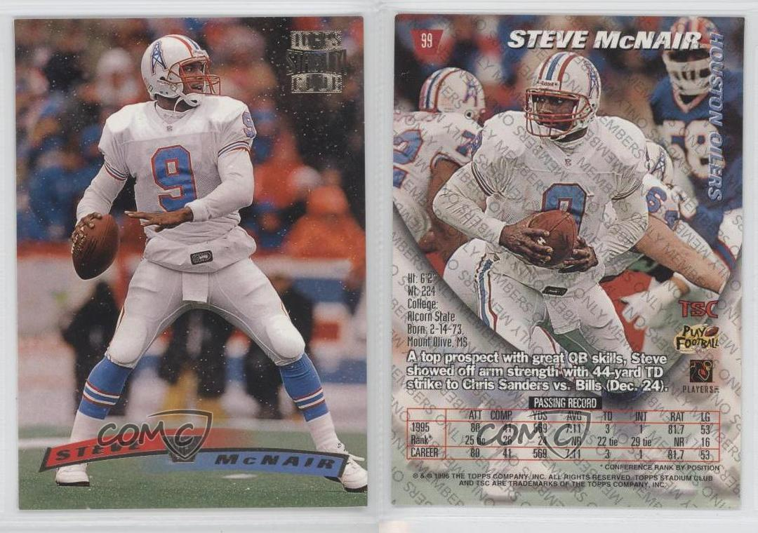 1996 topps stadium club members only 99 steve mcnair houston oilers 1996 topps stadium club members only 99 steve publicscrutiny Image collections