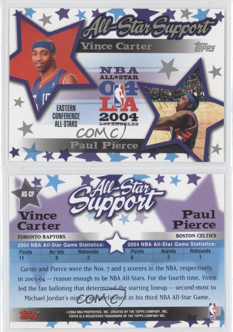 2004-05-Topps-All-Star-Support-AS-CP-Vince-Carter-Paul-Pierce-NBA-Team-Card