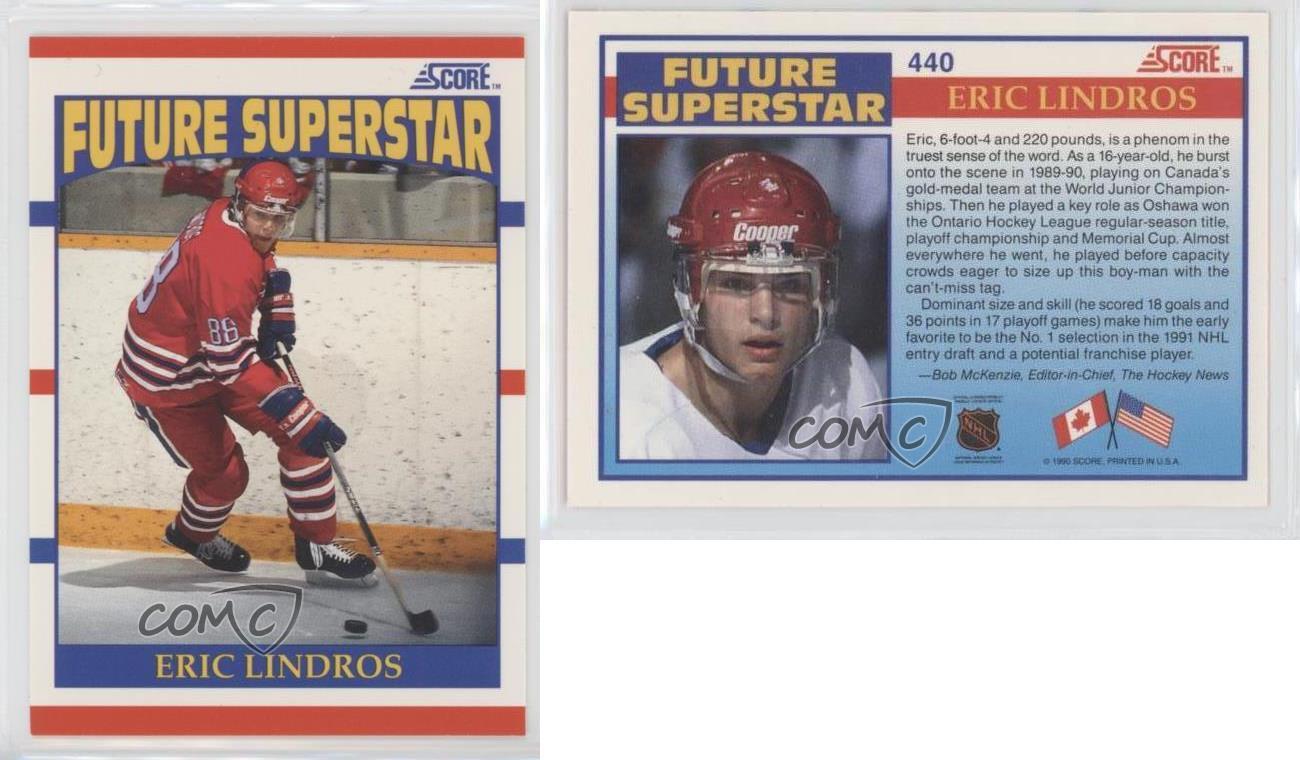 1990-91-Score-440-Eric-Lindros-Philadelphia-Flyers-Rookie-Hockey-Card