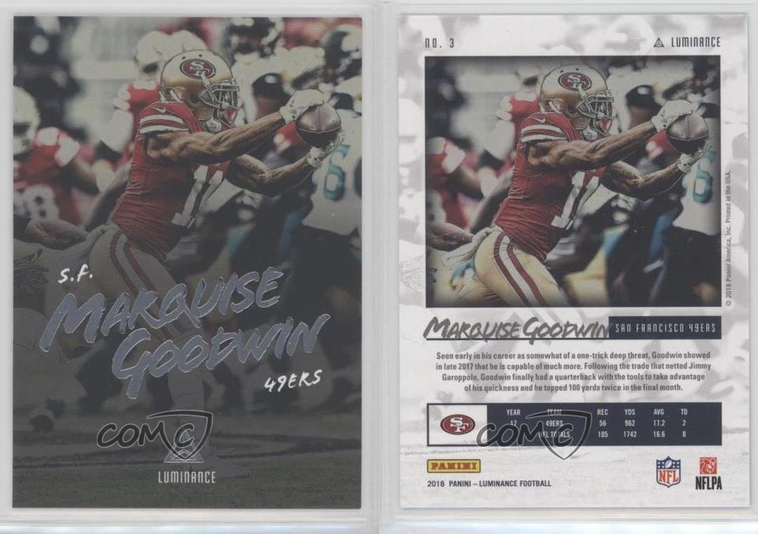 2018-Panini-Luminance-3-Marquise-Goodwin-San-Francisco-49ers-Football-Card