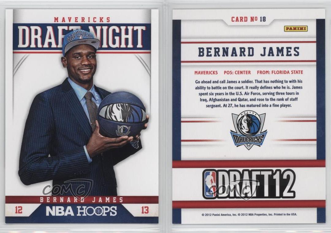 2012-13-NBA-Hoops-Draft-Night-18-Bernard-James-Dallas-Mavericks-Basketball-Card