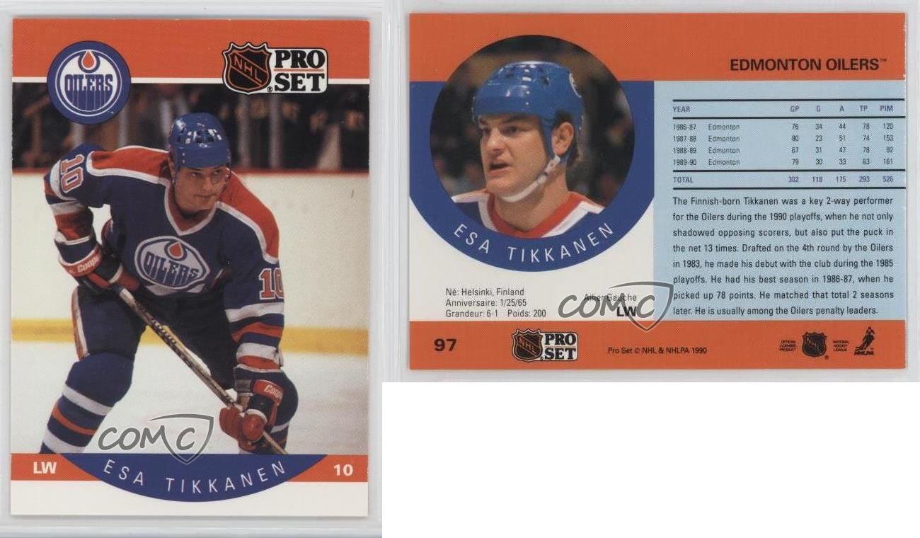 ... 1990-91-Pro-Set-97-Esa-Tikkanen-Edmonton- Edmonton Oilers Mens Jersey  ... dc5a89275