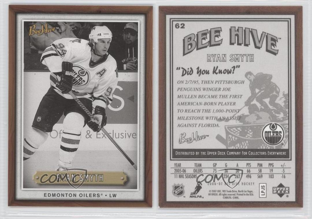 2006-07 Upper Deck Bee Hive # 62 Ryan Smyth Hockey Card