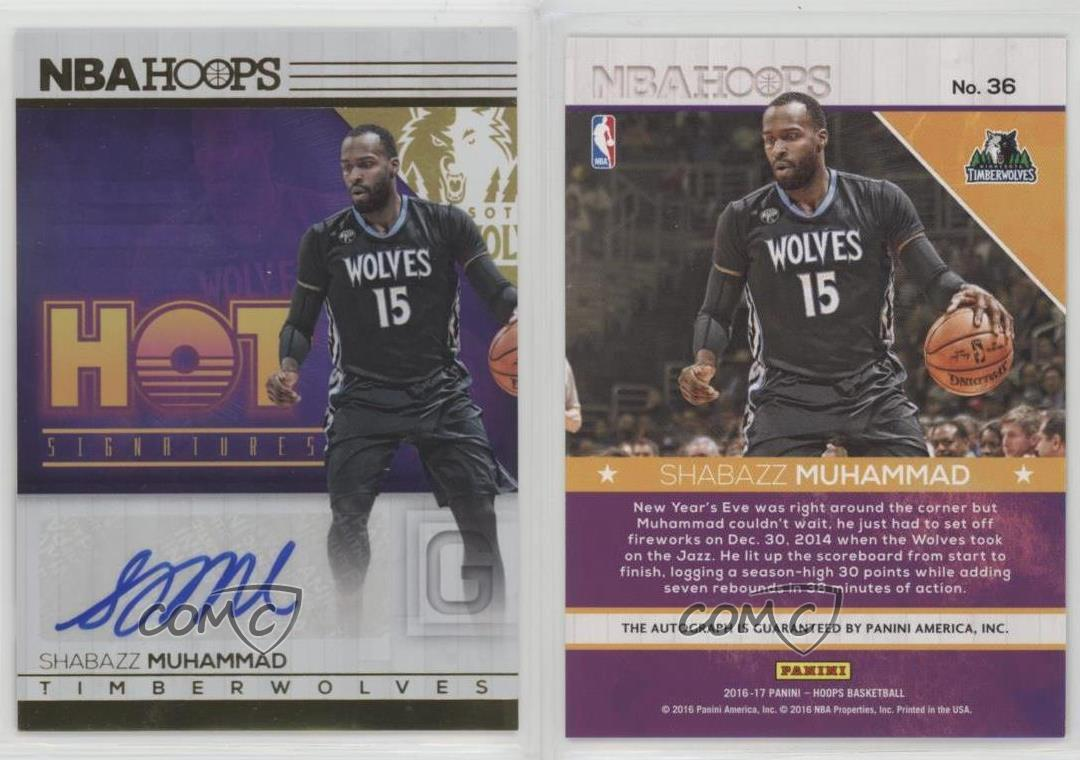 2016-17-Panini-NBA-Hoops-Hot-Signatures-36-Shabazz-Muhammad-Auto-Basketball-Card
