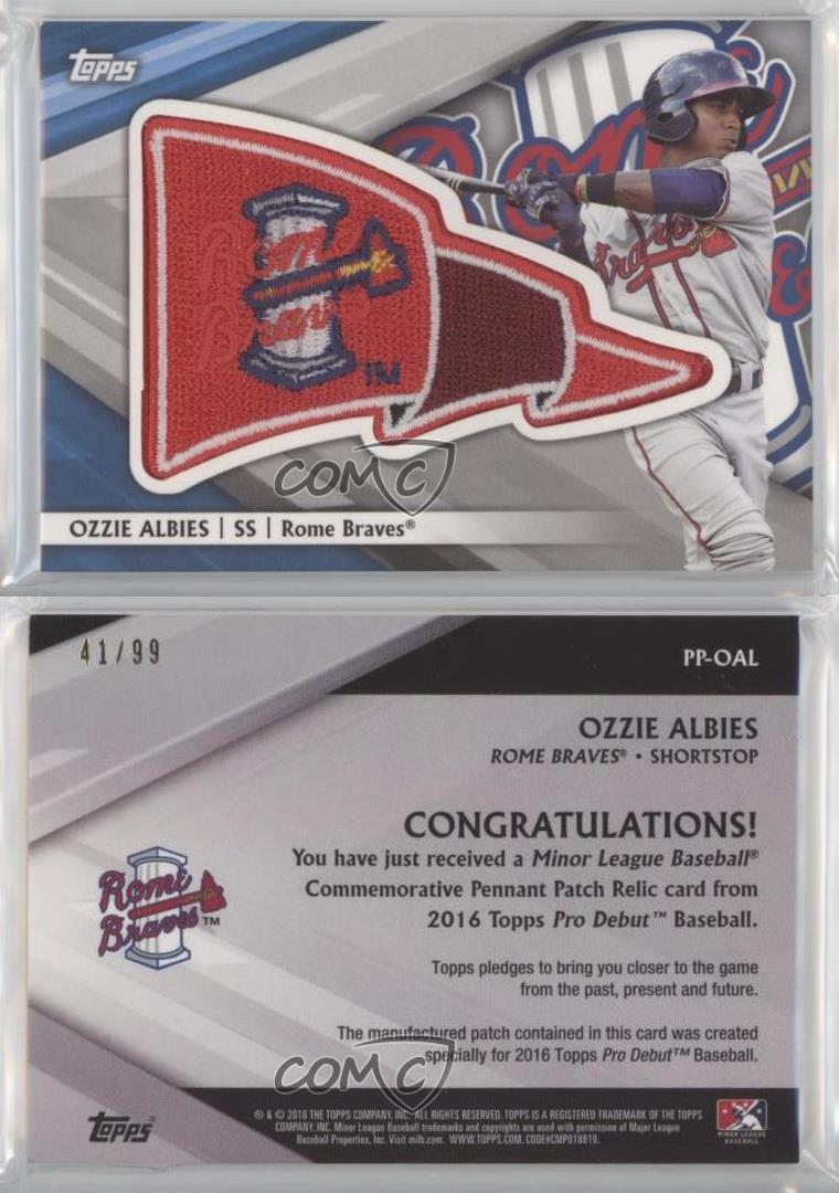 2016-Topps-Pro-Debut-Pennant-Manufactured-Patch-PP-OAL-Ozzie-Albies-Rome-Braves