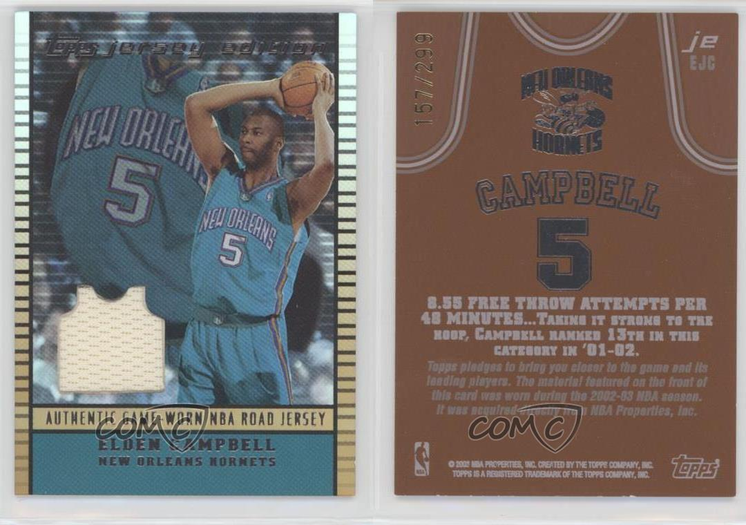 2002 Topps Jersey Edition Copper jeEJC Elden Campbell New Orleans