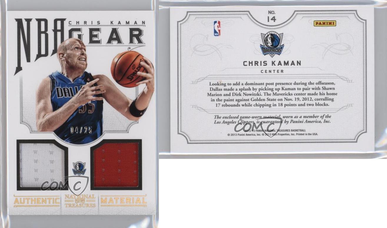 2012-13-Panini-National-Treasures-NBA-Gear-Combos-Prime-14-Chris-Kaman-Card