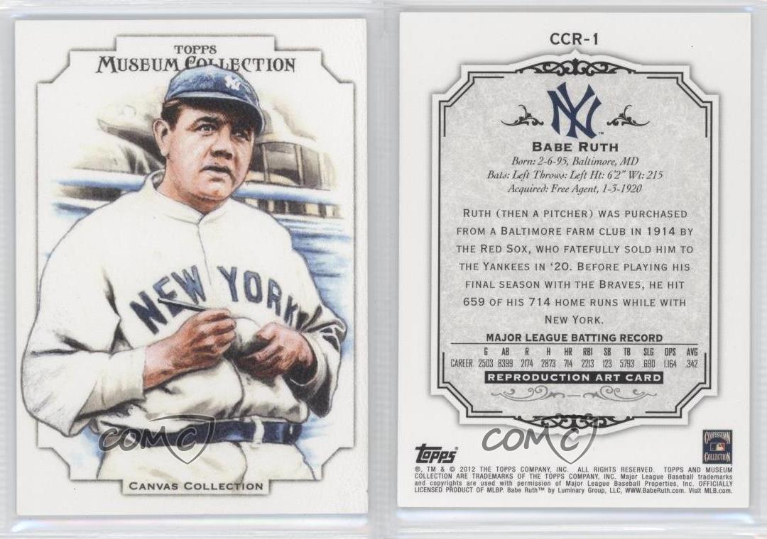 2012-Topps-Museum-Collection-Canvas-CCR-1-Babe-Ruth-New-York-Yankees-Card