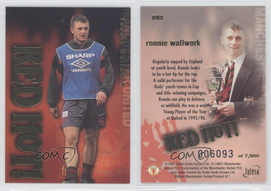 Gold RH1 Eric Kong no Futera Manchester United 1997 – Red Hot
