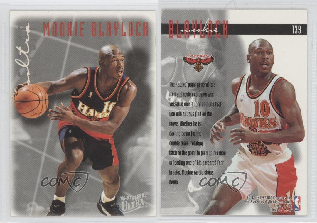 1996 97 Fleer Ultra 139 Mookie Blaylock Atlanta Hawks Tarjeta de