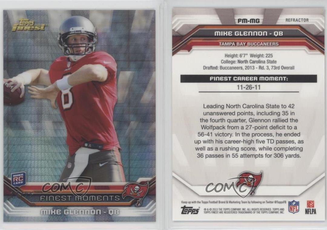 2013-Topps-Finest-Moments-Prism-Refractor-FM-MG-Mike-Glennon-Football-Card