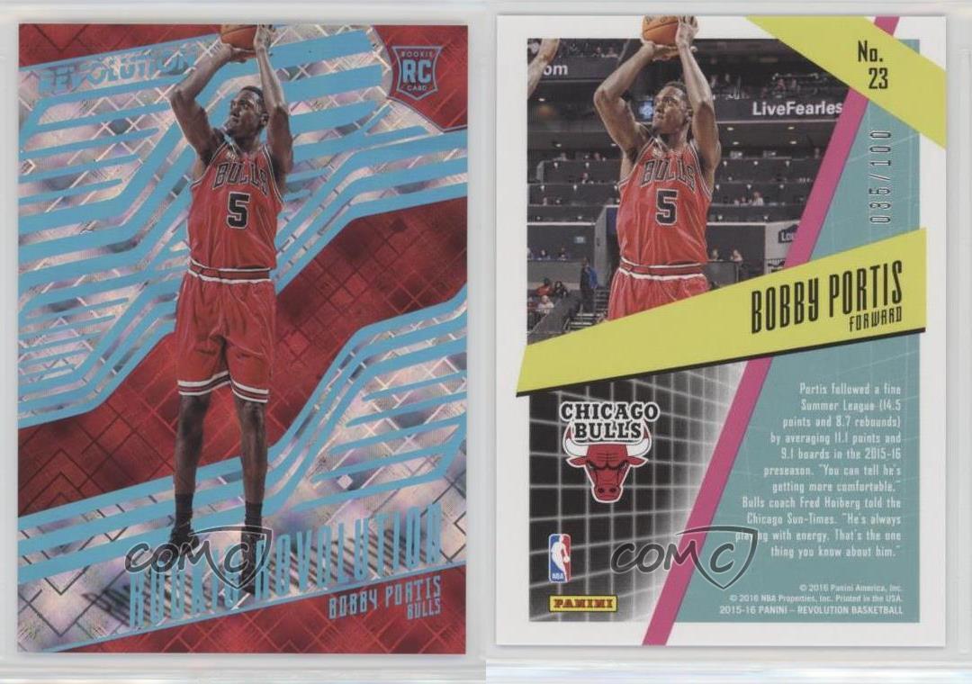 2015-16-Panini-Revolution-Rookie-Cosmic-23-Bobby-Portis-Chicago-Bulls-Card