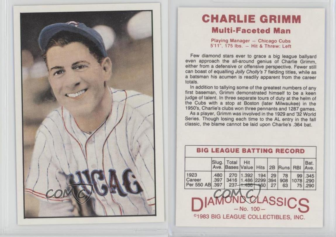 1983-Big-League-Collectibles-Diamond-Classics-100-Charlie-