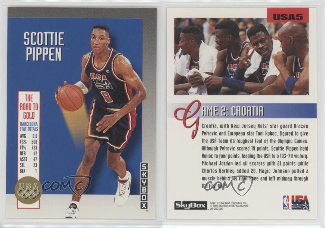 1992-93-Skybox-The-Road-to-Gold-USA5-Scottie-Pippen-Team-USA-Olympics-Card