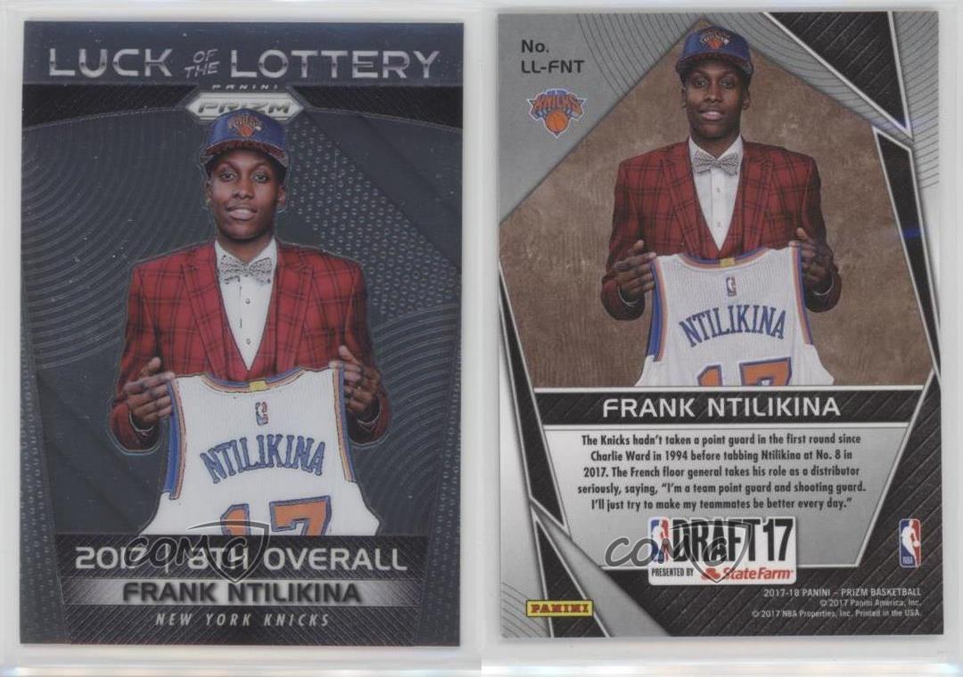 2017-18-Panini-Prizm-Luck-of-the-Lottery-LL-FNT-Frank-Ntilikina-New-York-Knicks