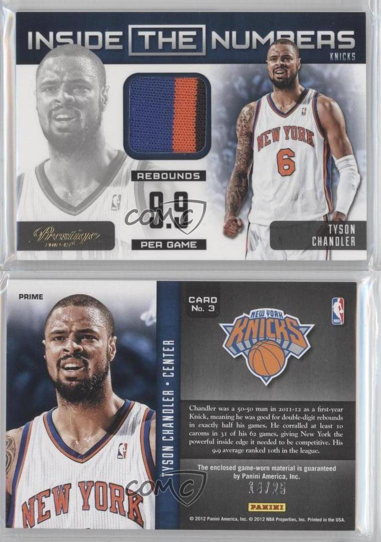 2012-13-Prestige-Inside-the-Numbers-Materials-Prime-3-Tyson-Chandler-Card
