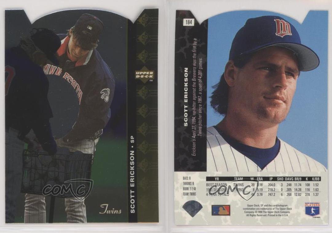 Baseball Card Scott Erickson 1994 Upper Deck # 503 NM//MT