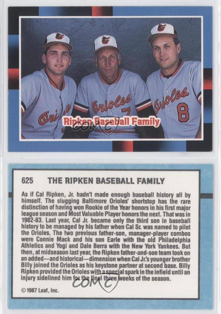 an analysis of the ripken way by cal ripken sr Firstpic, inc worked with the cal ripken, sr foundation and exact sports, inc to create the healthy choices, healthy children curriculum, which is a life skills curriculum for use in the cal ripken, sr foundation's badges for baseball program the healthy choices, healthy children curriculum draws upon the ripken way, a collection of life.