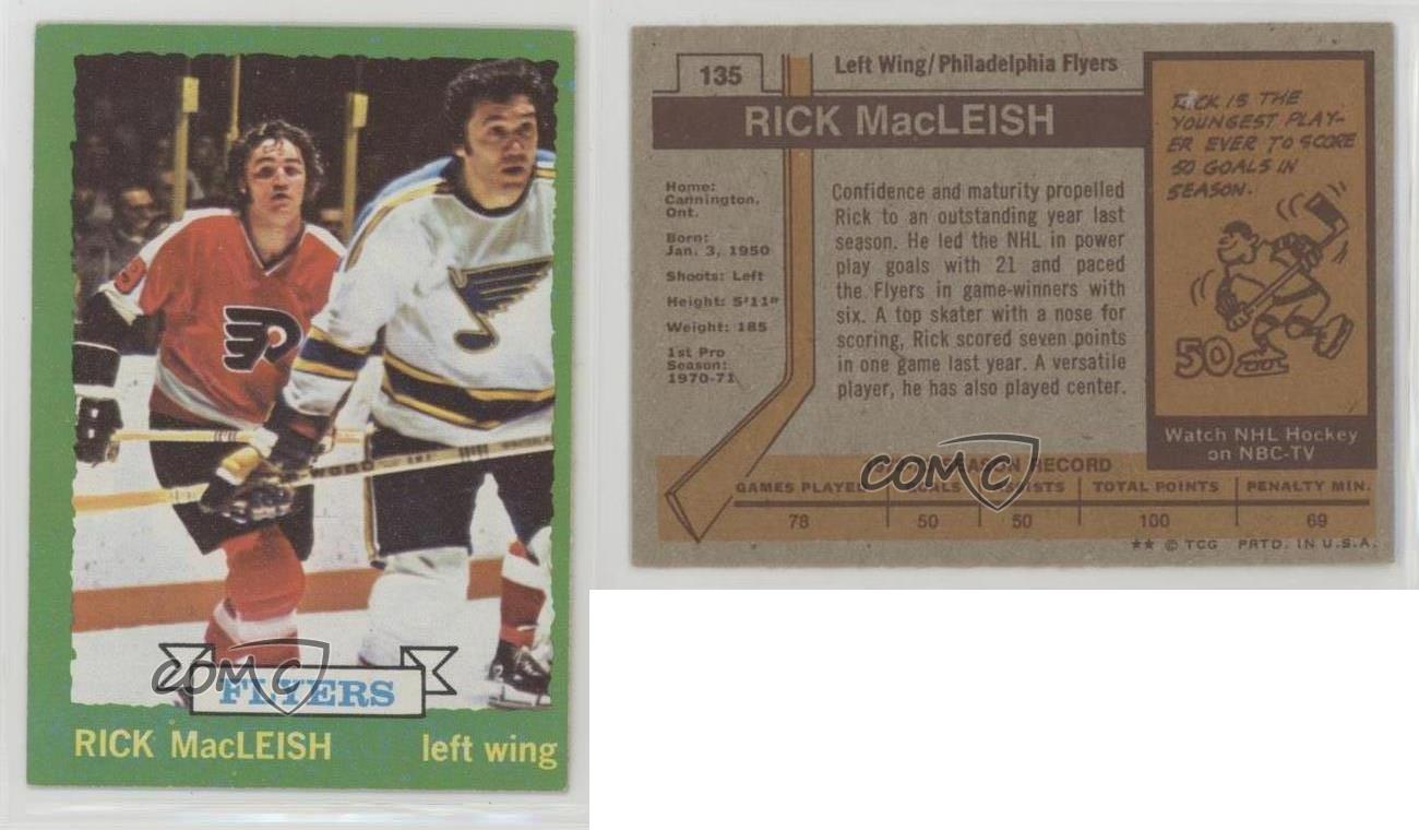 1973-74-Topps-135-Rick-MacLeish-Philadelphia-Flyers-Hockey-Card