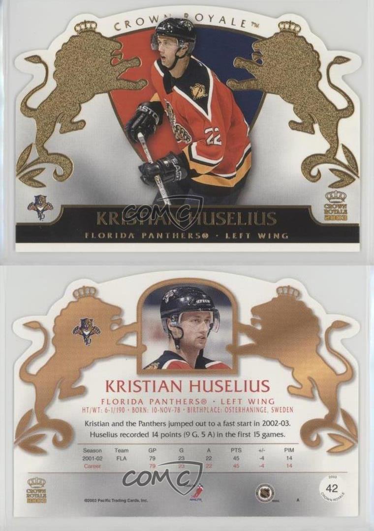 2002-03-Pacific-Crown-Royale-42-Kristian-Huselius-New-Jersey-Devils-Hockey-Card